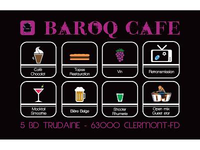 Business Card fun design creation france black purple pub publicity adobe concept draw bar