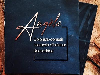 Carte de visite | Angele_c_id home design art deco blue card