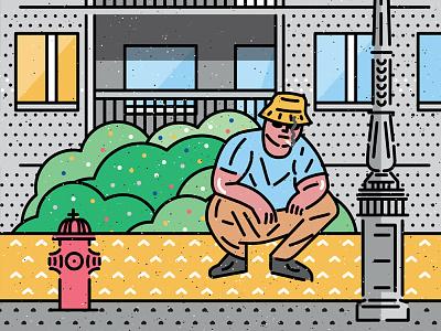 BEE'S KNEES city streetwear cartoon icongraphic icon vectorart illustration art design vector 90s rap housing blocks cigarette