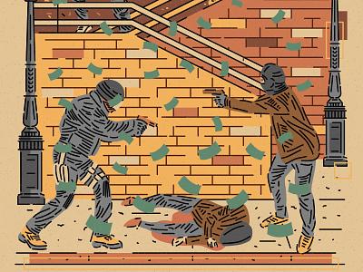 CITY SERIES _ LISBON gun guns urban urbanart city street war illustrated illustrator vector vectorart murder fighter illustration lisboa lisbon