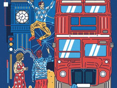 CITY SERIES _ LONDON artwork england doodle lineart illustrator illustration vectorart vector branding icon flatdesign splendor city bus bigben london