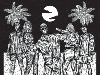 NARCOBOSS procreate affinity ipadpro icon art illustrationart vectorart black palm illustration poster