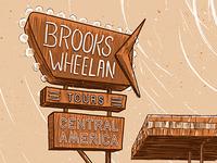 Brooks Wheelan Tour Poster