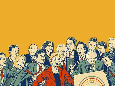 Underculture Debate podcast art james adomian debate democrat politics gigposter comedy poster illustration