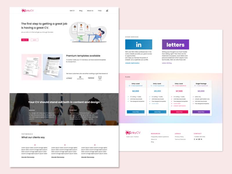 UI Redesign for inkyCV ecommerce ecommerce design website design desktop ux design ui design