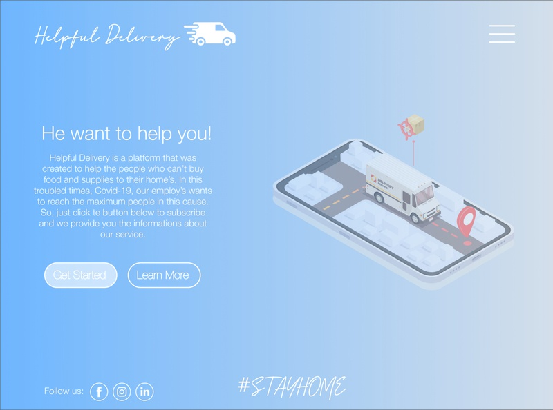 #DailyUI 003 - Landing Page