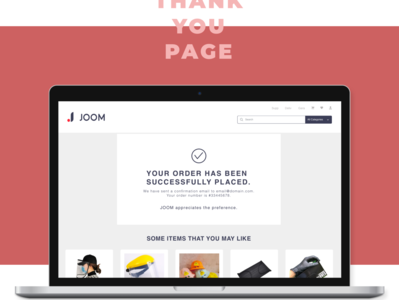 thankyoupage minimal web ui ux website design