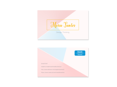 invitation card minimal branding design