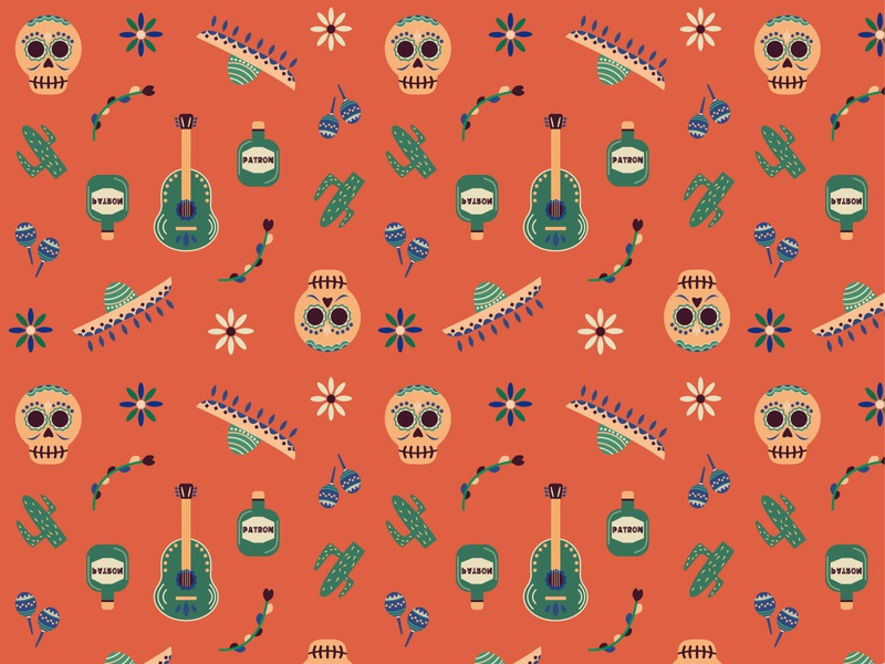 Mexico pattern flower tequila mexico city mexico pattern art pattern design pattern a day patterns pattern flat minimal vector design illustrator illustration art