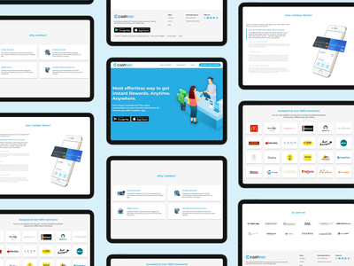 Cashbac Landing Page -  Ipad Mockup blue webdesign landing page ui indonesia cashbac cashback fintech landing page landingpage
