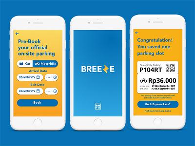 Breeze App - Parking App parking splash screen ux
