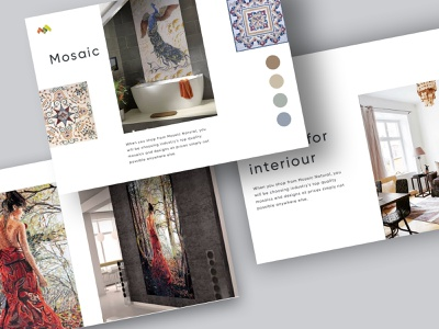 Artboard poligraphy minimalist typogaphy portfolio catalog mosaic
