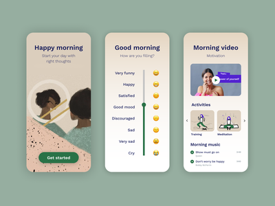Morning app mobile app mobile mobile ui mental health mentalhealth