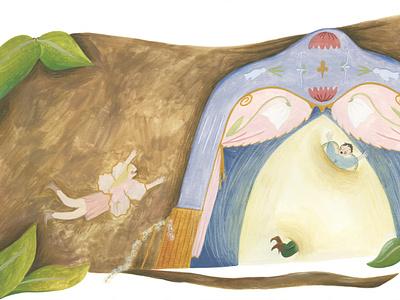 Through the Gateway gouache painterly kids illustration kidlit kidlitart book art book woodland magic fairytale fairy adventure storybook publishing editorial illustration editorial children book illustration illustration childrens book childrens illustration