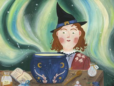 witchcraft fairy kids illustration kidlitart fairytale illustration gouache childrens illustration childrens book children book illustration book art