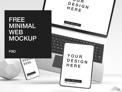 Free Web Mockup portfolio muzli design download download psd minimal 3d psd mockup psd website template web mockup template mockup freebie free