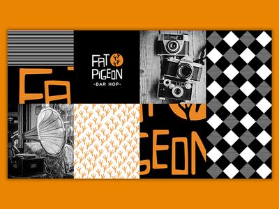 Fat Pigeon Branding Project restaurant design illustrator photoshop branding brand design brand identity branding design