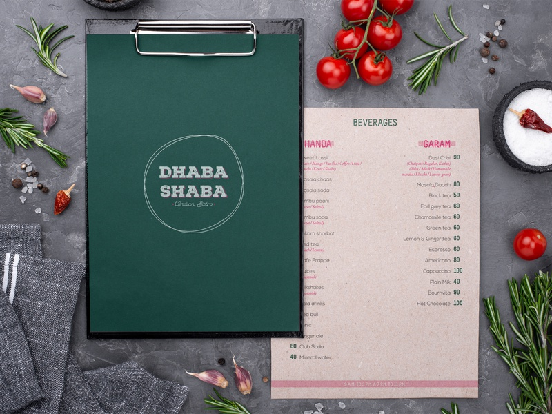 Dhaba Shaba Branding logo concept typography vector portfolio art restaurant menu illustration design project branding