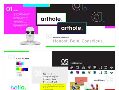 Arthole Stylescape stylescape vector arthole concept branding design typography illustration ui logo branding portfolio design