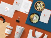 Tobiko Brand Identity restaurant illustration packaging branding