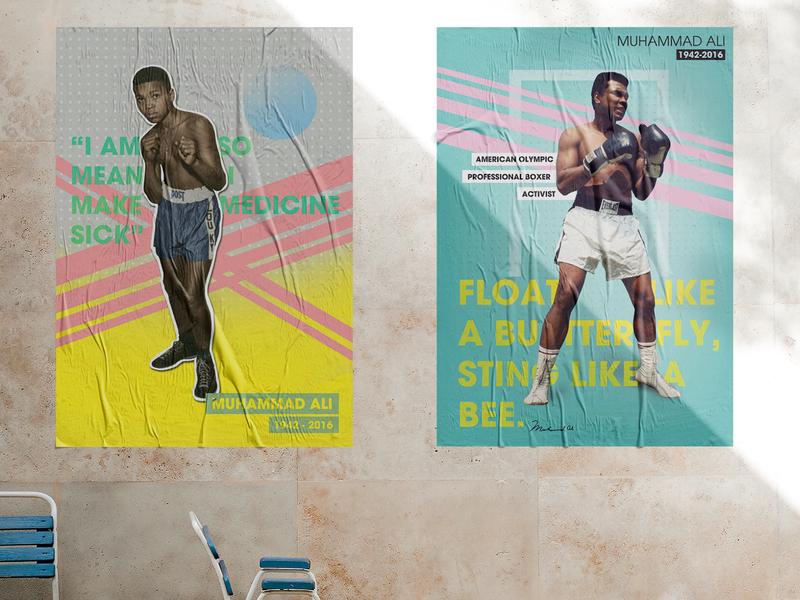 Poster Design - Ali artwork colors typogaphy portfolio art poster art design poster design ali boxer muhammad ali muhammad poster