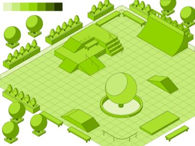 Empty Skatepark (Isometric)