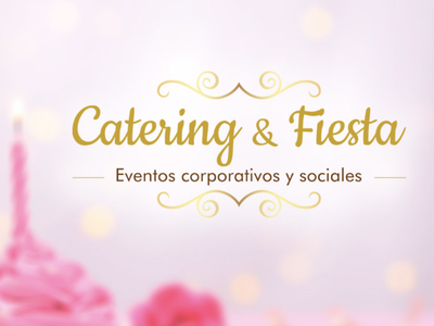 Catering & Fiesta - Logo events illustration logo design