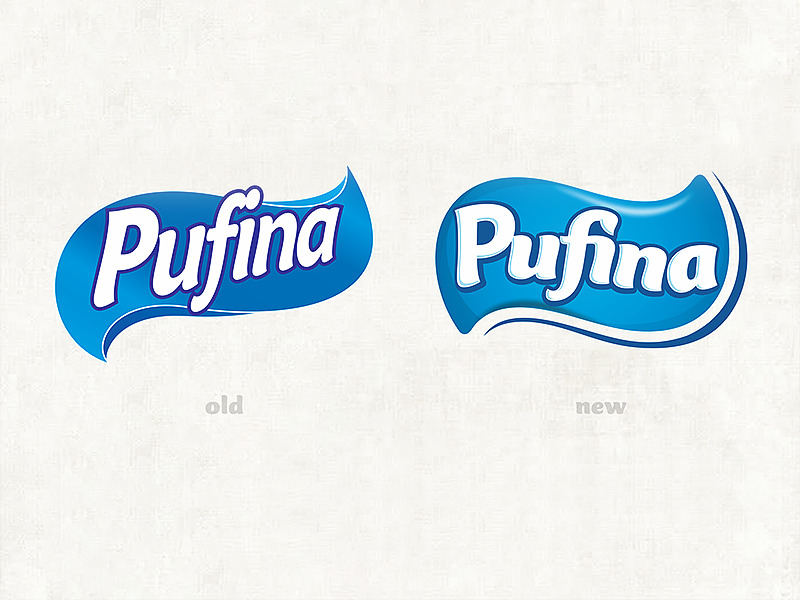 pufina logo redesign by cristian todean dribbble rh dribbble com Toilet Company Logos toilet paper logo quiz
