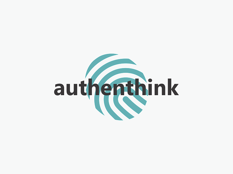 Authenthink publicity branding agency agency creative thinking advertising logo design icon minimalist authentic