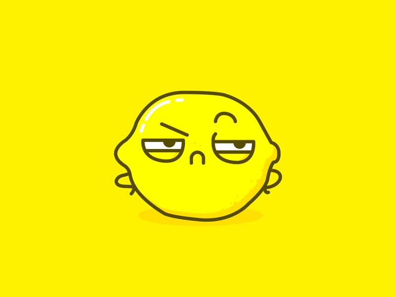 Sour Lemon pastanick suspicious mad cute citrus fruit lemon design vector illustration