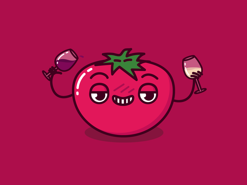 Tomato Sauced redone pun doodle booze wine sauce drunk tomato pastanick illustration vector design