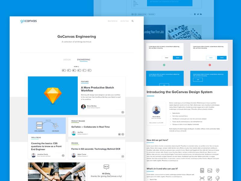 GoCanvas Hackathon - Blog Concept blog post blog conceptual ux web gocanvas ui design