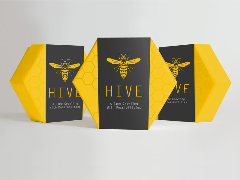 Hive Packaging Concept board game quick package honeycomb branding concept hive hexagon game bee packaging design
