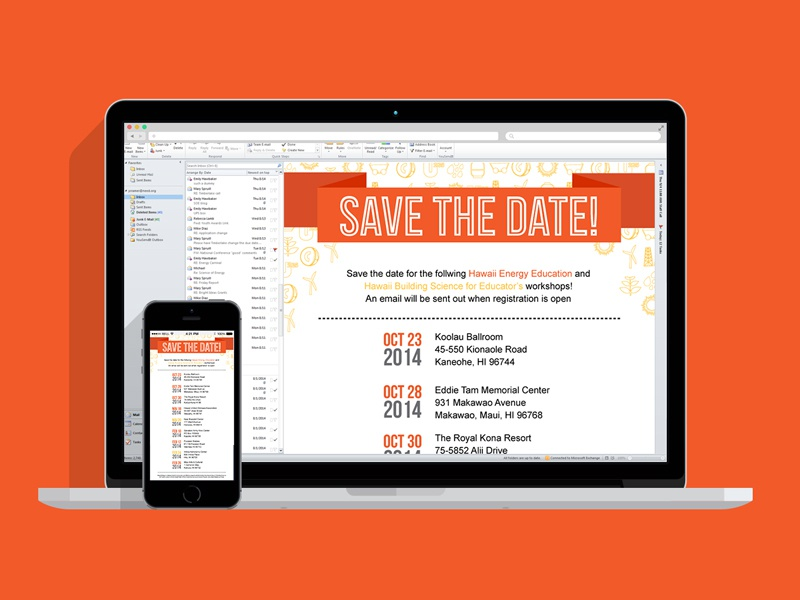 Work Save The Date Email Energy Need Hawaii