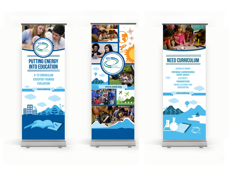 Pull-up Banners Set 1 pull-up display education energy national need banner