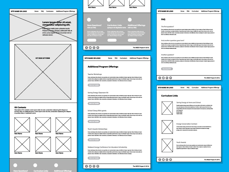 Wireframes site website need wireframe