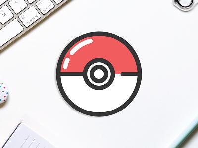 Poke' Coaster pokeball pokemon coaster stickermule design