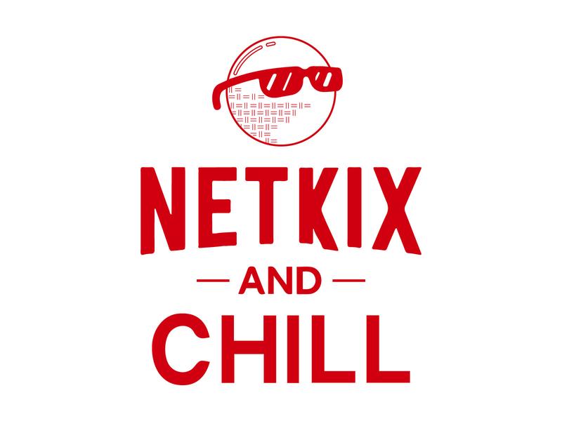 Netkix and Chill cool netkix tshirt design shirt kickball gocanvas illustration vector design
