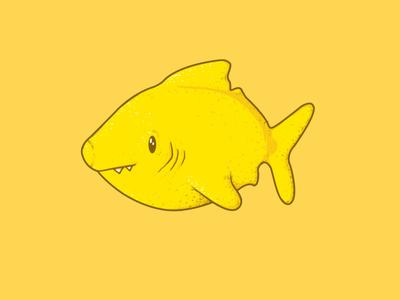 Lemon Shark threadless stickers cute fruit lemon pun shark sticker illustration design