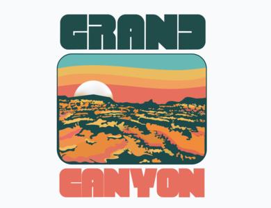 Grand Canyon illustrator icon t-shirt design illustration flat graphics design