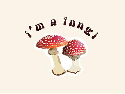 Fun-guy funny graphics sticker designs t-shirt desings graphic puns mushroom graphic vegetable graphic graphicdesign typography illustrator illustration graphics design