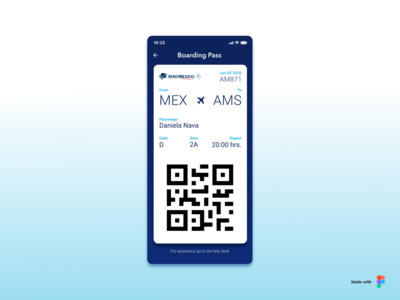 Daily UI #024 Boarding Pass app daily ui daily 100 challenge ux ui design dailyui