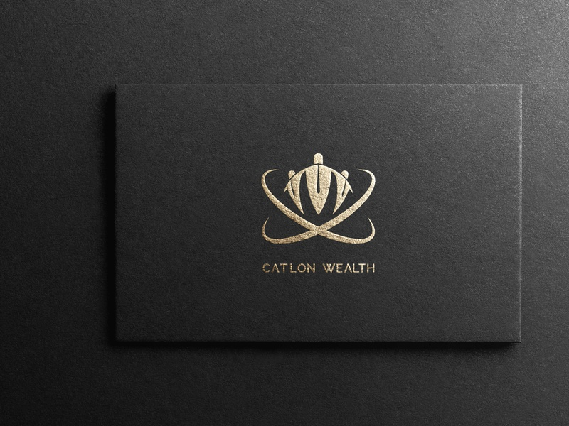 Catlon Wealth typography type logo illustrator illustration icon flat design branding