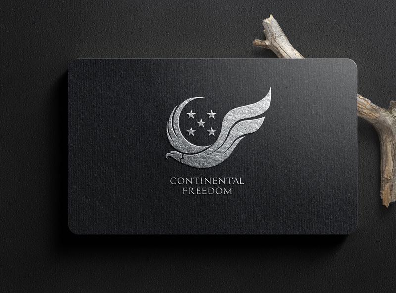 Continental freedom vector typography type logo illustrator illustration icon flat design branding
