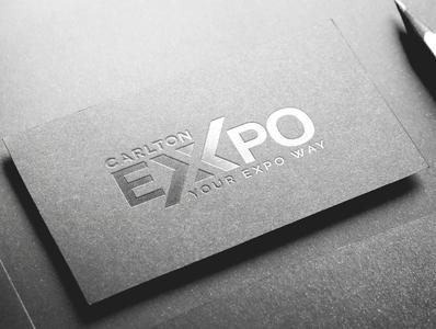 CARLTON EXPO typography type logo illustrator illustration icon flat design branding