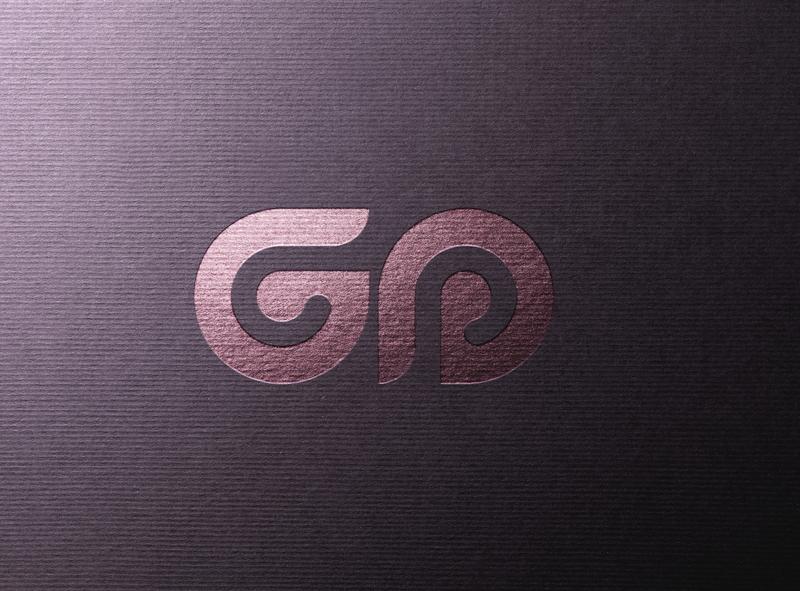 GP George Popler typography type logo illustrator illustration icon flat design branding