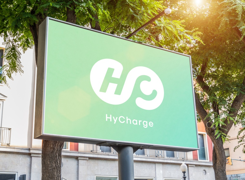 HC HYCHARGE vector typography type logo illustrator illustration icon flat design branding