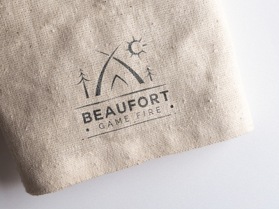 Beaufort game fire typography type logo illustrator illustration icon flat design branding