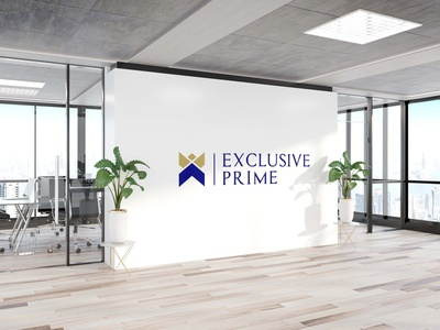 Exclusive Prime vector typography type logo illustrator illustration icon flat design branding