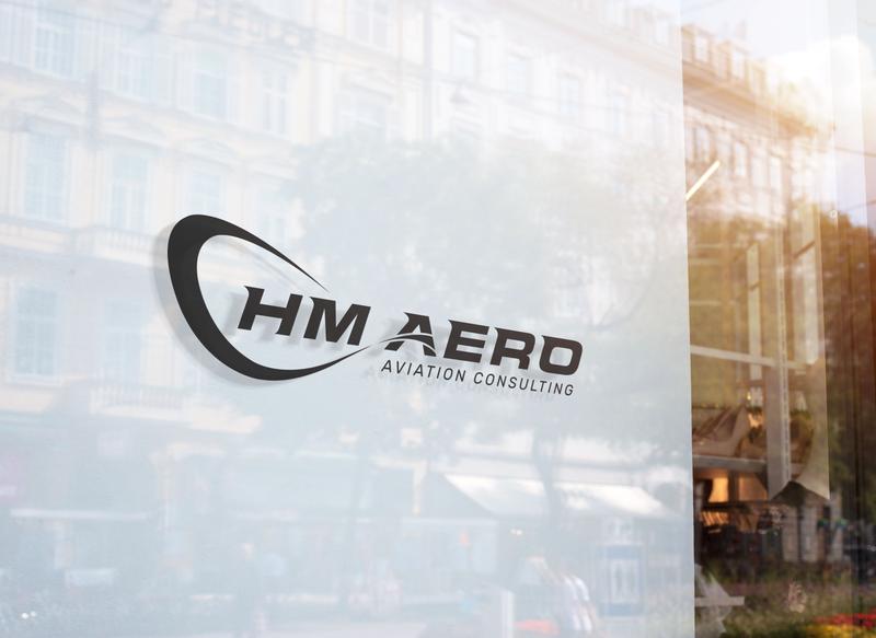 HM AERO vector typography type logo illustrator illustration icon flat design branding